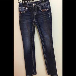 Miss Me Jeans Decorative Pockets Size 14